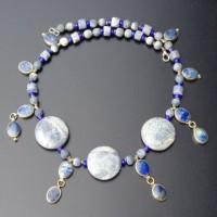 Blaue Schaumkorallen und Lapis Lazuli aus Afghanistan